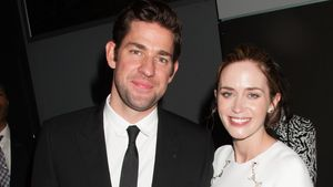 """Emily Blunt mit ihrem Mann John Krasinski beim """"The Hollars"""" Screening in New York"""