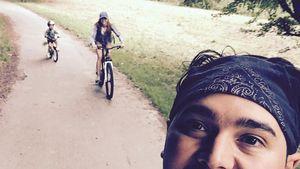 Oana Nechiti: Süße Fahrradtour mit Erich und Sohn Niki!