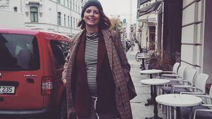 Im Mustermix: Schwangere Eva Padberg zeigt stolz Babybauch!