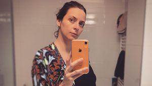 Runde Sache: Eva Padberg präsentiert ihren XXL-Babybauch