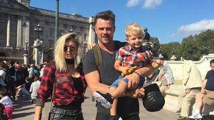 Fergie mit Ehemann Josh Duhamel und Söhnchen Axl Jack