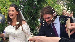 Fifi Geldof und Andrew Roberts am Tag ihrer Hochzeit im englischen Kent