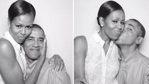Süße Fotobox-Bilder: So gratuliert Barack Obama seiner Frau