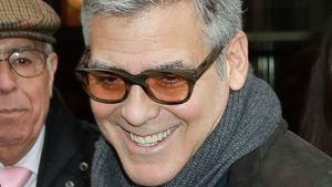 George Clooney verlässt sein Hotel in Paris