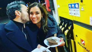 Torte an der Tanke: Giovanni und Jana Ina feiern Geburtstag