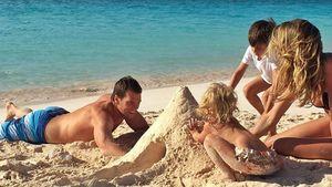 Gisele Bündchen mit Ehemann Tom Brady und ihren Kindern Vivian Lake und Benjamin Brady