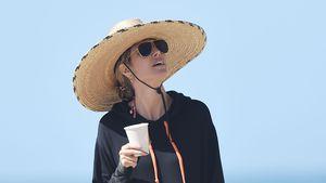 Mal ein ganz anderer Look: Heidi Klum mit Sombrero unterwegs