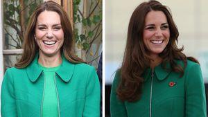 Mantel recycelt: Welcher Look steht Herzogin Kate besser?