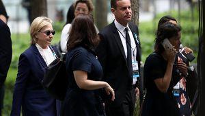 Schock! Hillary Clinton verlässt 9/11-Gedenkfeier vorzeitig