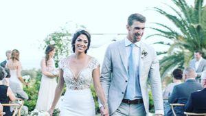 Hochzeitsfoto von Michael Phelps und seiner Frau Nicole