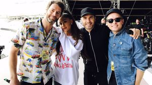 Howard Donald, Ariana Grande, Gary Barlow und Mark Owen