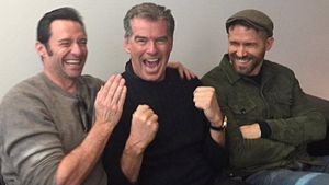 Hugh Jackman, Pierce Brosnan und Ryan Reynolds