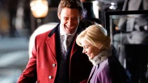 Hugh Jackman und Michelle Williams beim Filmdreh in New York