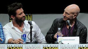 Hugh Jackman und Patrick Stewart 2013 auf der internationalen Comic-Con