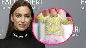 Zuckersüß: Irina Shayk spaziert mit Tochter Lea im Tutu