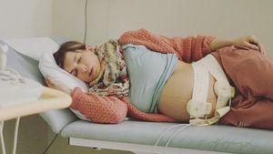 Isabell Horn kurz vor der Geburt