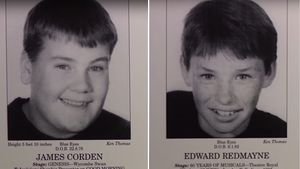 """James Corden und Eddie Redmaynes Portfolio der """"Jackie Palmer Stage School"""""""