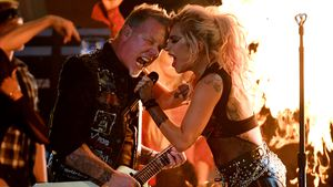 James Hetfield und Lady Gaga bei den Grammys 2017