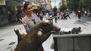 Jana Ina Zarrella in der australischen Stadt Adelaide