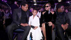 Selten! Beyoncé und Jay-Z mit Blue Ivy (8) beim Super Bowl