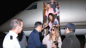 Jennifer Lopez bei ihrer Ankunft in der Dominikanischen Republik
