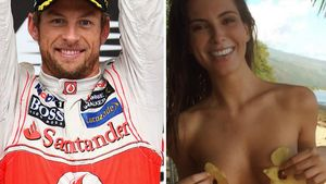 Jenson Button und Brittny Ward