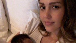 Working-Mum: Jessica Alba nimmt putzigen Sohnemann zum Job