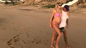 Schwangerschafts-Endspurt: Jessica Harts Bauch ist riesig