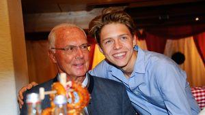 Seltener Auftritt: Franz Beckenbauer zeigt seinen Sohn Joel