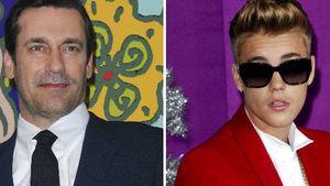 Justin Bieber und Jon Hamm