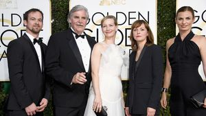 Jonas Dornbach,  Peter Simonischek, Sandra Hüller, Maren Ade, Janine Jackowski bei den Golden Globes