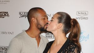Justin Ervin und Ashley Graham bei der Sports Illustrated Swimsuit Party 2016