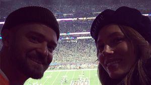 Nach Gänsehaut-Show: Justin & Jessicas süßer Super-Bowl-Snap