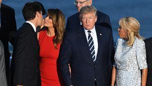 Justin Trudeaus Fast-Kuss mit Melania Trump wird Netz-Hit!