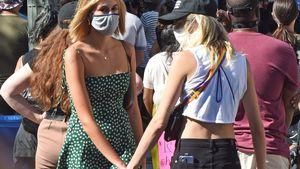 Nur Freunde? Cara Delevingne und Kaia Gerber halten Händchen
