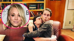 Kaley Cuoco, Johnny Galecki und Karl Cook