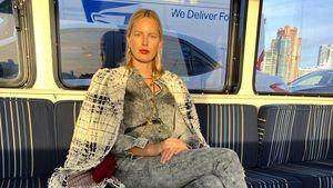 Schwangere Karolina Kurkova: Das trägt das Model am liebsten