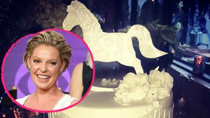 Katherine Heigl mit ihrer Baby-Shower-Torte