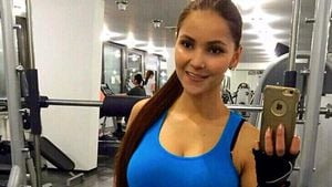 Bachelor-Kandidatin Kattia Vides beim Sport