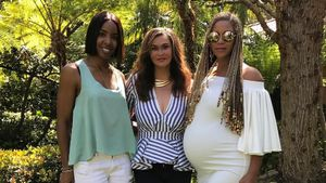 Kelly Rowland, Tina Knowles und Beyoncé an Ostern 2017