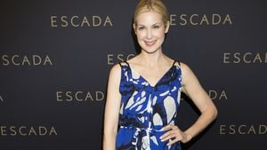 Hollywood in Hamburg! Kelly Rutherford bei Escada