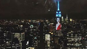 Kendall Jenner am Empire State Building in New York