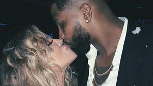 Love! Bald-Mama Khloe Kardashian knutscht sich ins Baby-Jahr