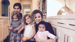 Khloe Kardashian mit ihren Neffen Mason & Reign und ihren Nichten Penelope & Dream