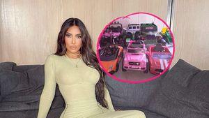 Volle Garage: Kim Kardashian zeigt Kinderautos ihrer Kleinen