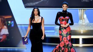 Mit Rede und Kleid: Kim & Kendall sorgten für Emmy-Lacher