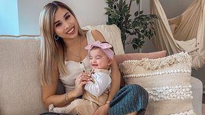 Goldig: Kisus Tochter Milena ist eine richtige Strahlemaus