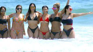 Kourtney Kardashian (Dritte v. rechts) mit Freundinnen in Mexiko