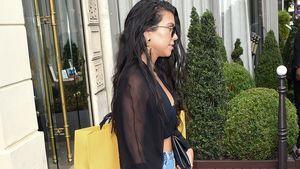 Kourtney Kardashian vor dem Fendi Store in Paris