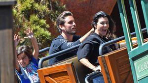 Kourtney Kardashian mit Scott Disick und ihrem Sohn Mason